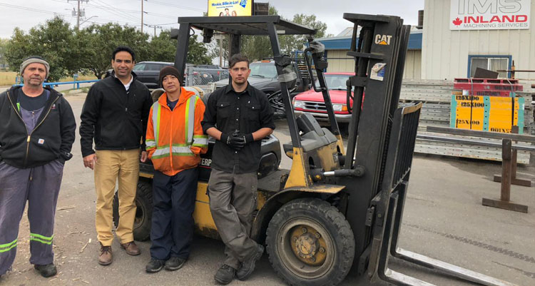 forklift trainees Calgary