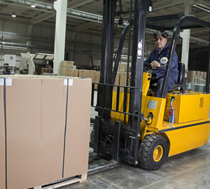 Driving school for forklift in Calgary